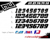 KIT DECO MOTOCROSS CR/CRF SUMMER BLACK 5