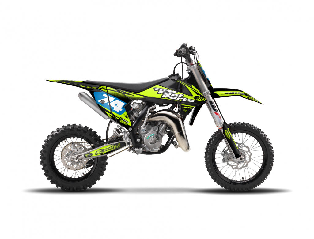 kit deco motocross 65sx riderunik flu. Black Bedroom Furniture Sets. Home Design Ideas