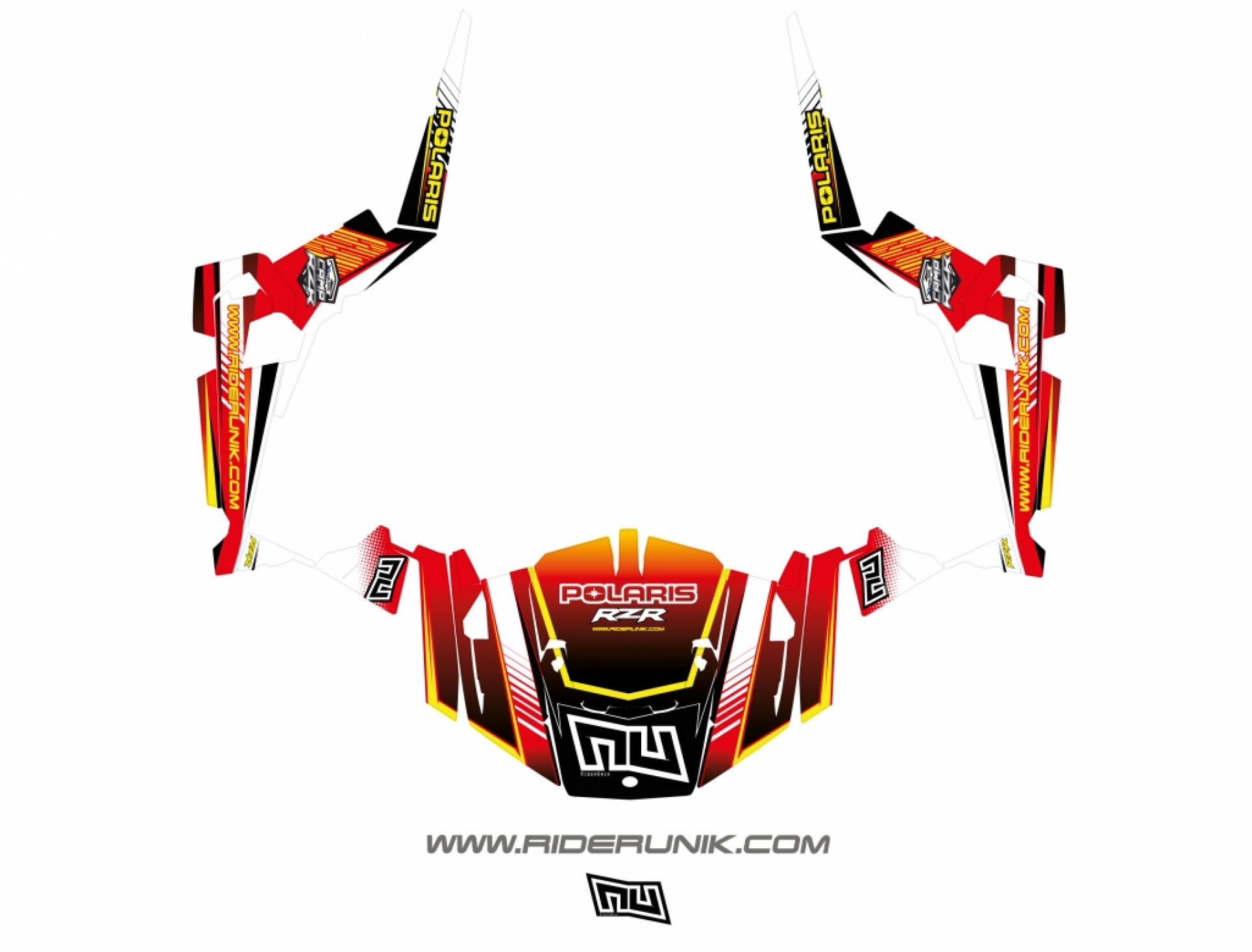 KIT DECO SSV POLARIS RZR Straight rouge