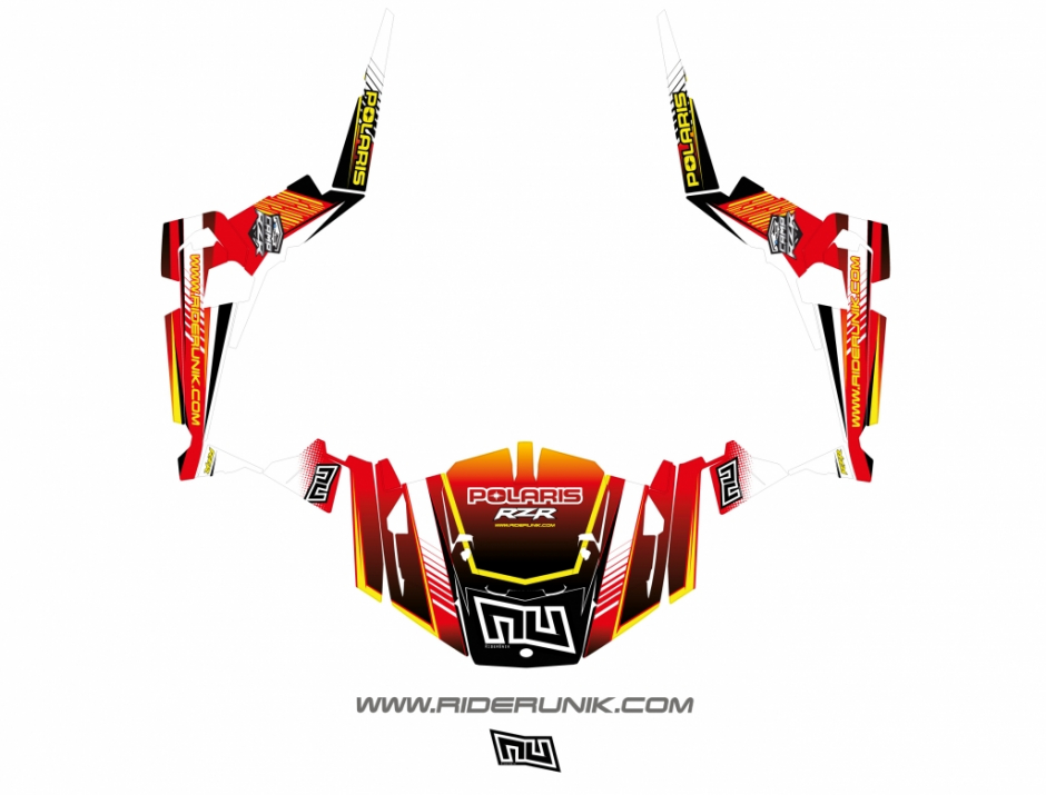 KIT DECO SSV POLARIS RZR Straight rouge 1
