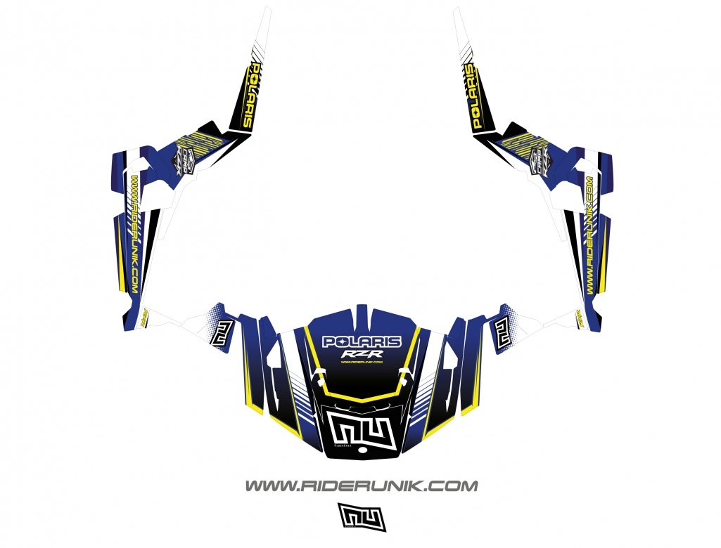 KIT DECO SSV POLARIS RZR Straight bleu