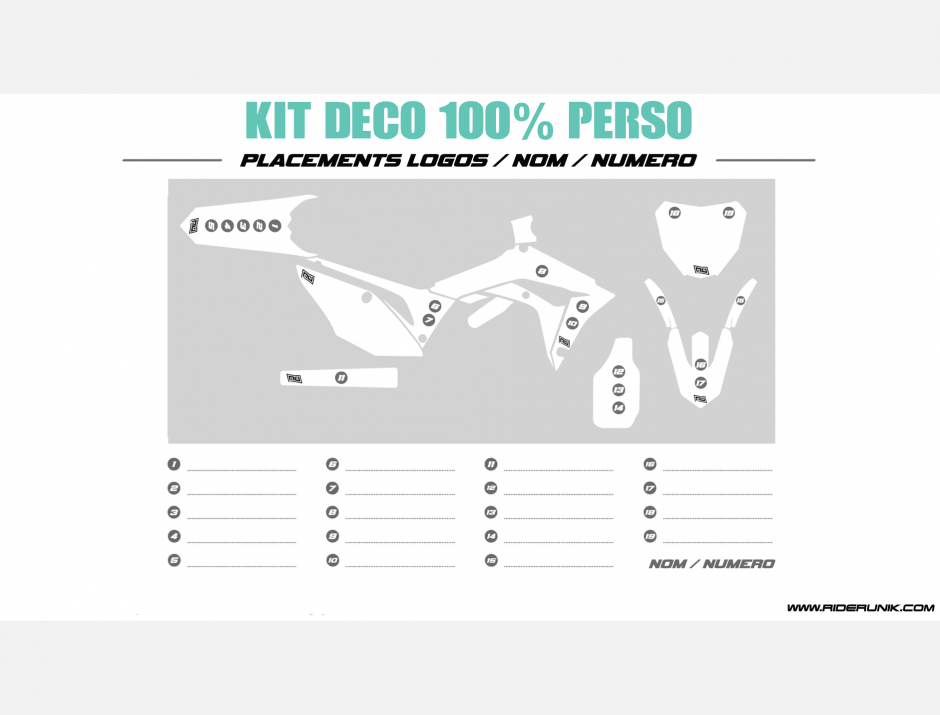 KIT DECO MOTOCROSS CR/CRF RIDE WHITE 4