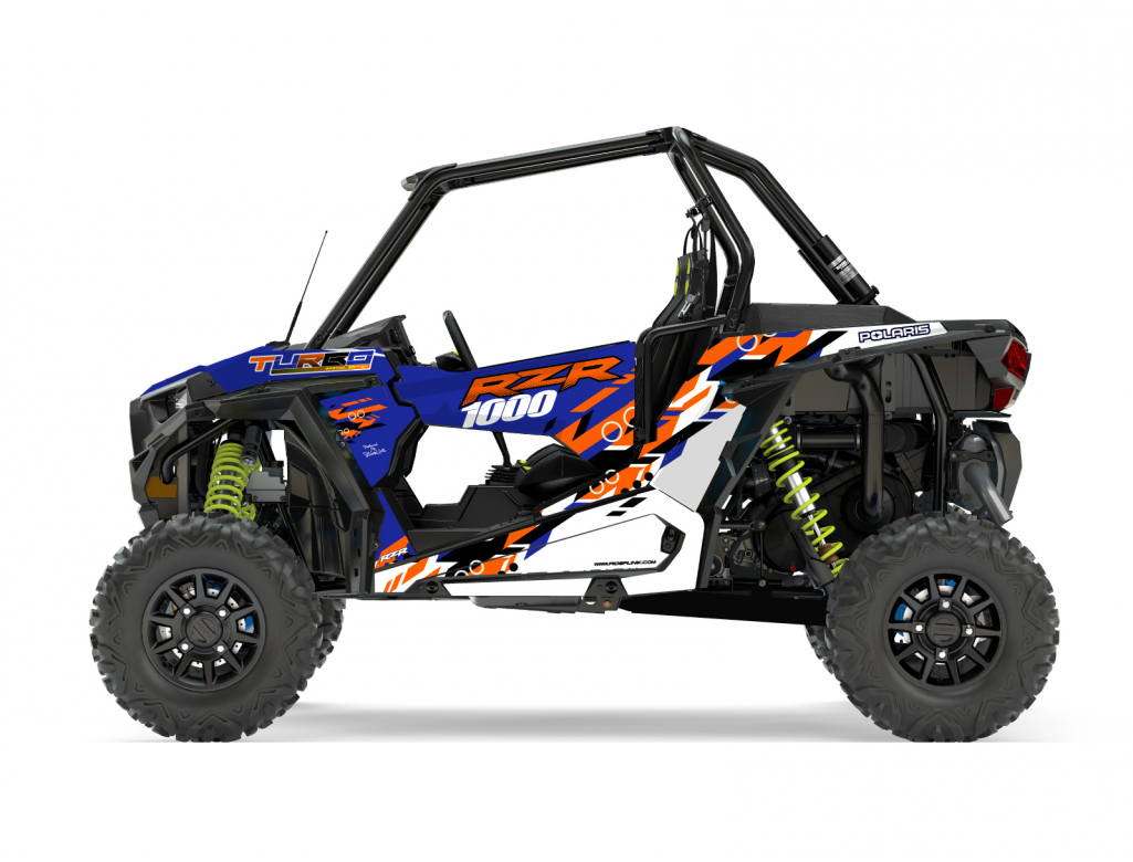 KIT DECO SSV POLARIS RZR Colorful Bleu