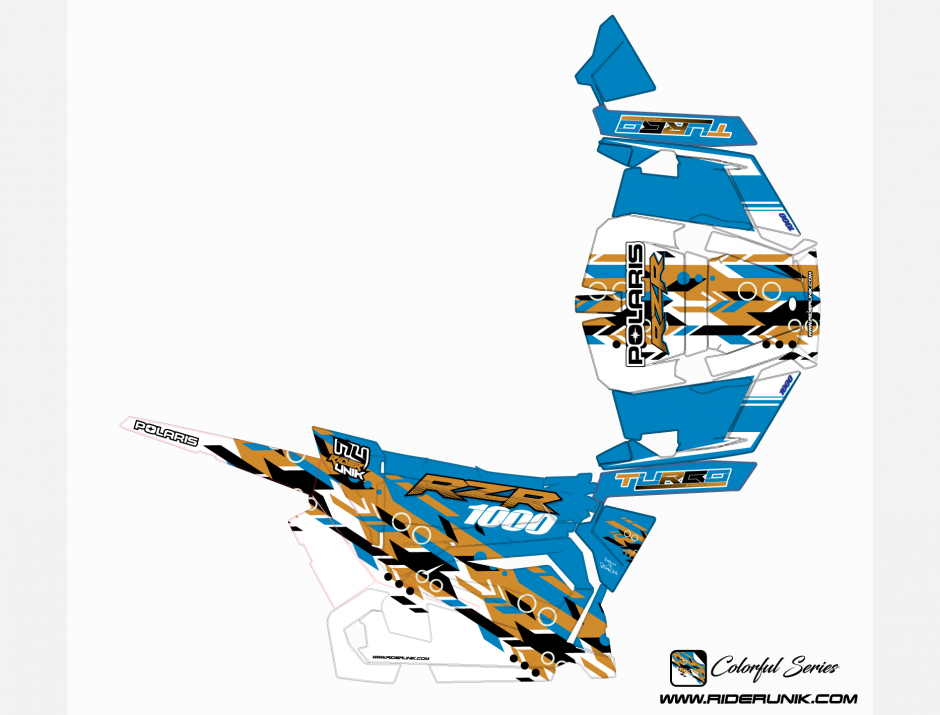 KIT DECO SSV POLARIS RZR Colorful Gold 2