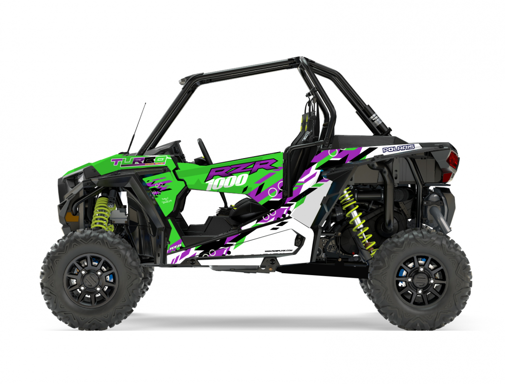 KIT DECO SSV POLARIS RZR Colorful Vert