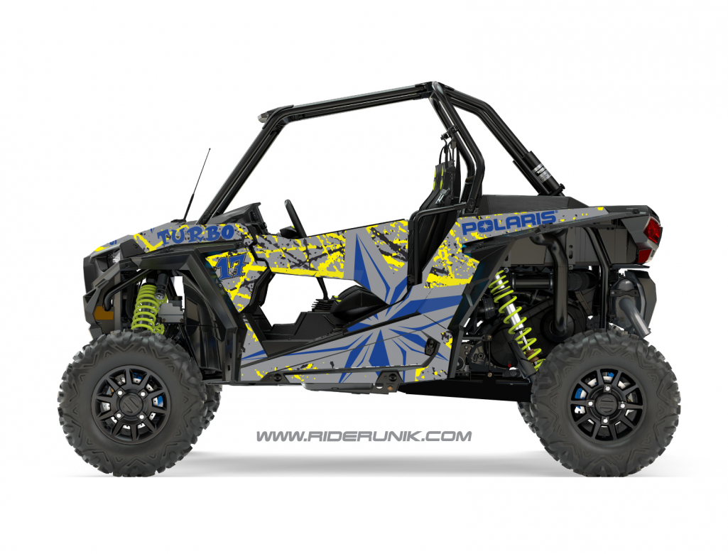 KIT DECO SSV POLARIS RZR Brush gris