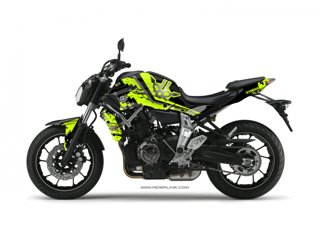 kit deco yamaha mt 07 urban fluo. Black Bedroom Furniture Sets. Home Design Ideas