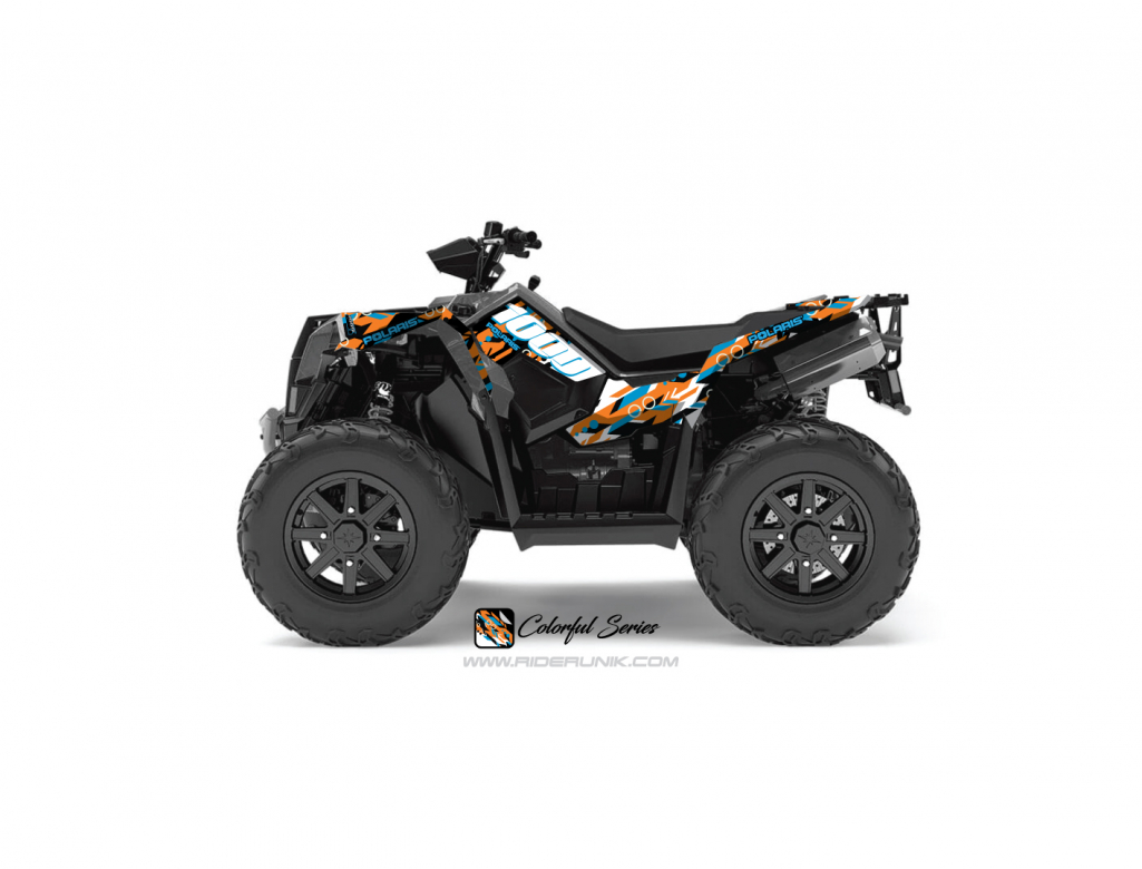 KIT DECO QUAD SCRAMBLER 1000 COLORFUL ORANGE