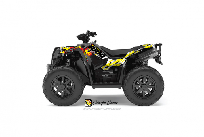 KIT DECO QUAD SCRAMBLER 1000 COLORFUL ROUGE