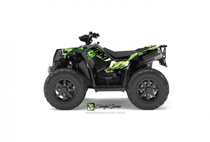 KIT DECO QUAD SCRAMBLER 1000 COLORFUL VERT