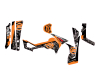 KIT DECO CFORCE 800 QUAD CAMO FEUILLAGE ORANGE 2