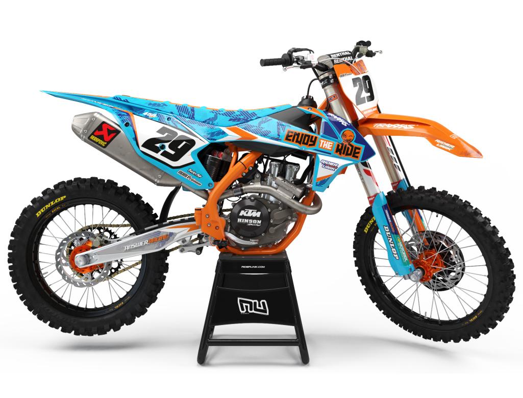 kit deco motocross ktm enj blu. Black Bedroom Furniture Sets. Home Design Ideas