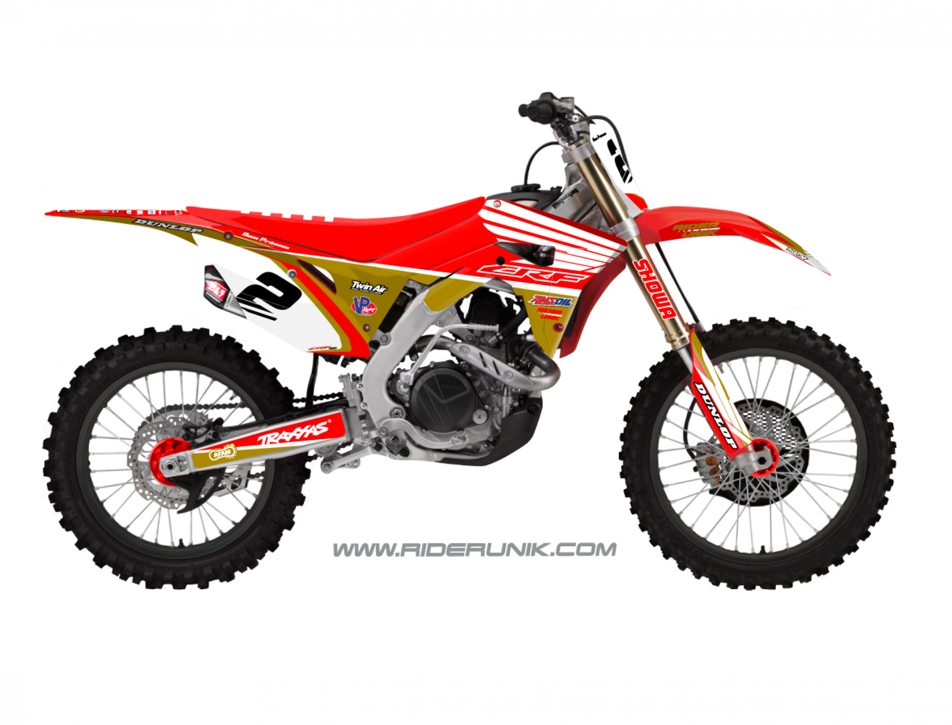 KIT DECO MOTOCROSS TRAX GOLD