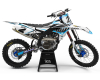KIT DECO MOTOCROSS LIKEN WHITE CYAN 1