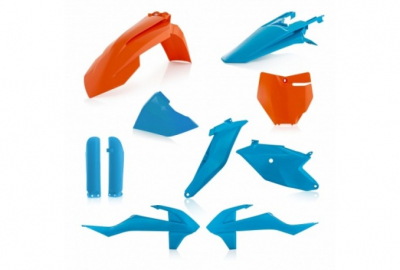Kit plastique Acerbis Ktm Orange/Bleu