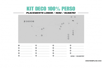 KIT DECO MOTOCROSS BETA 100% PERSONNALISE