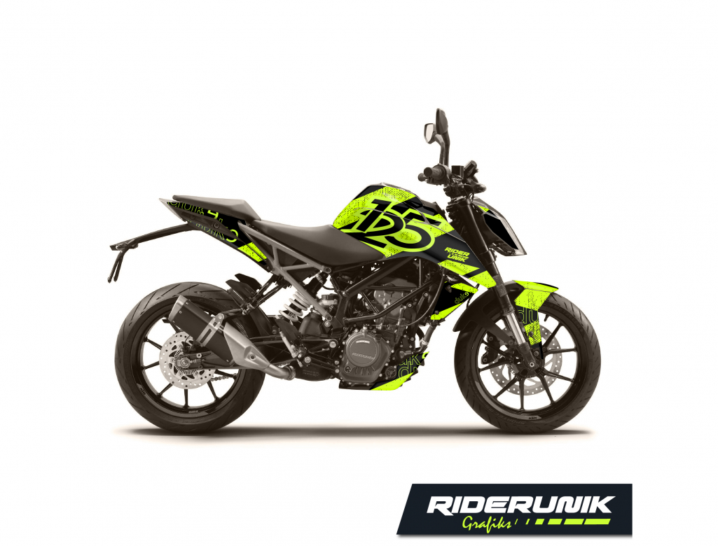 KIT DECO KTM DUKE FLUO