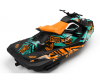 KIT DECO SEA-DOO SPARK ENJOY THE RIDE AQUA/ORANGE FULL 3