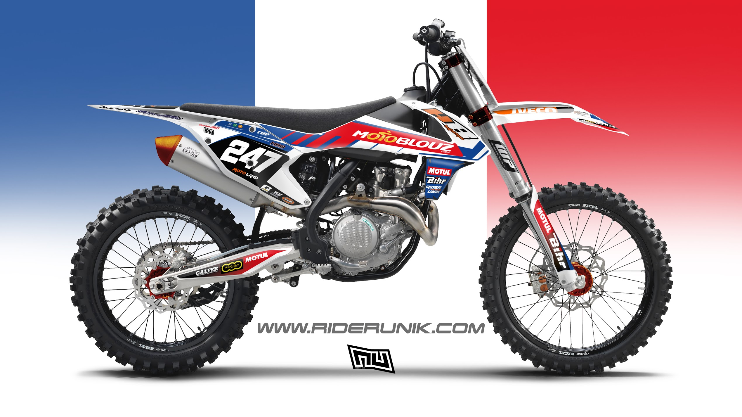 Kit Deco Motocross Ktm Hb France