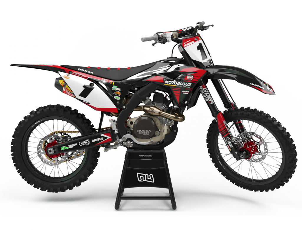 KIT DECO MOTOCROSS CR/CRF SR TEAM BLACK/RED EDITION