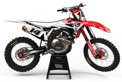 KIT DECO MOTOCROSS CR/CRF ENJOY THE RIDE RED/BLACK