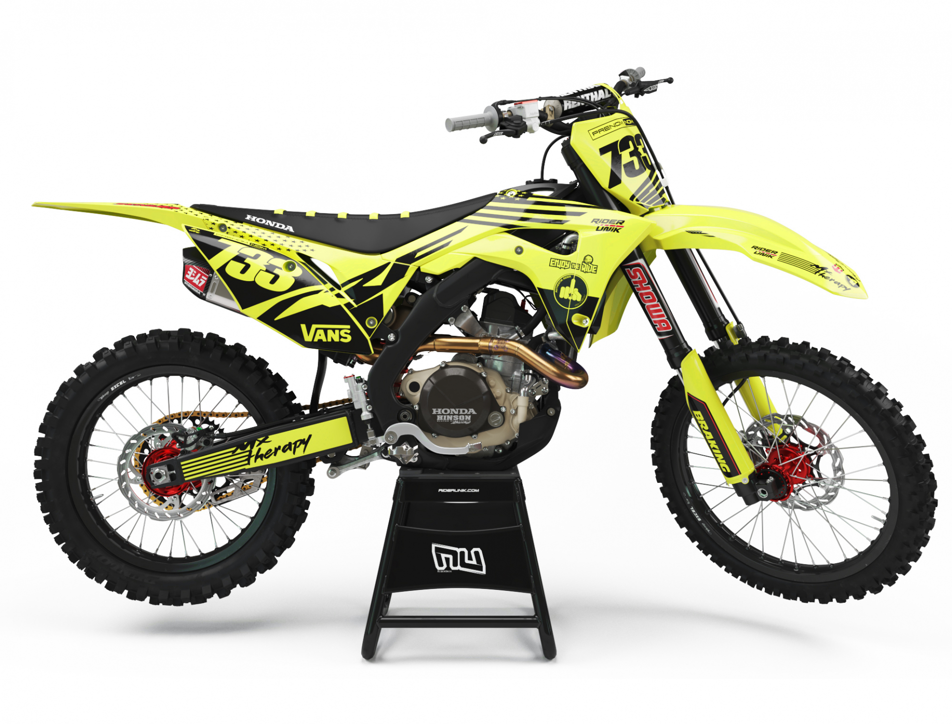 KIT DECO MOTOCROSS CR/CRF THERAPY JAUNE FLUO