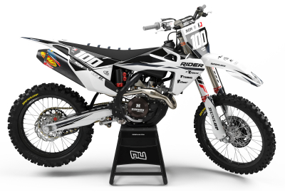 KIT DECO MOTOCROSS HUSQVARNA RIDER  GREY 2019