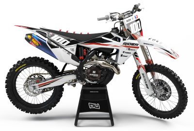 KIT DECO MOTOCROSS HUSQVARNA RIDER RED 2019