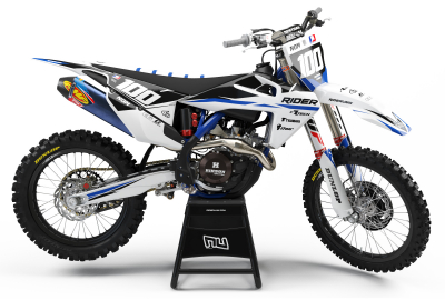 KIT DECO MOTOCROSS HUSQVARNA RIDER BLUE 2019