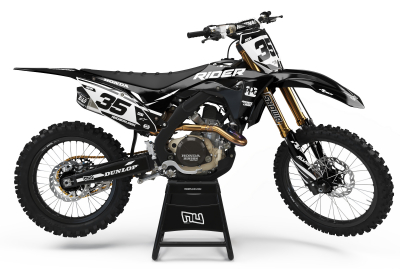KIT DECO MOTOCROSS CR/CRF RIDER BLACK