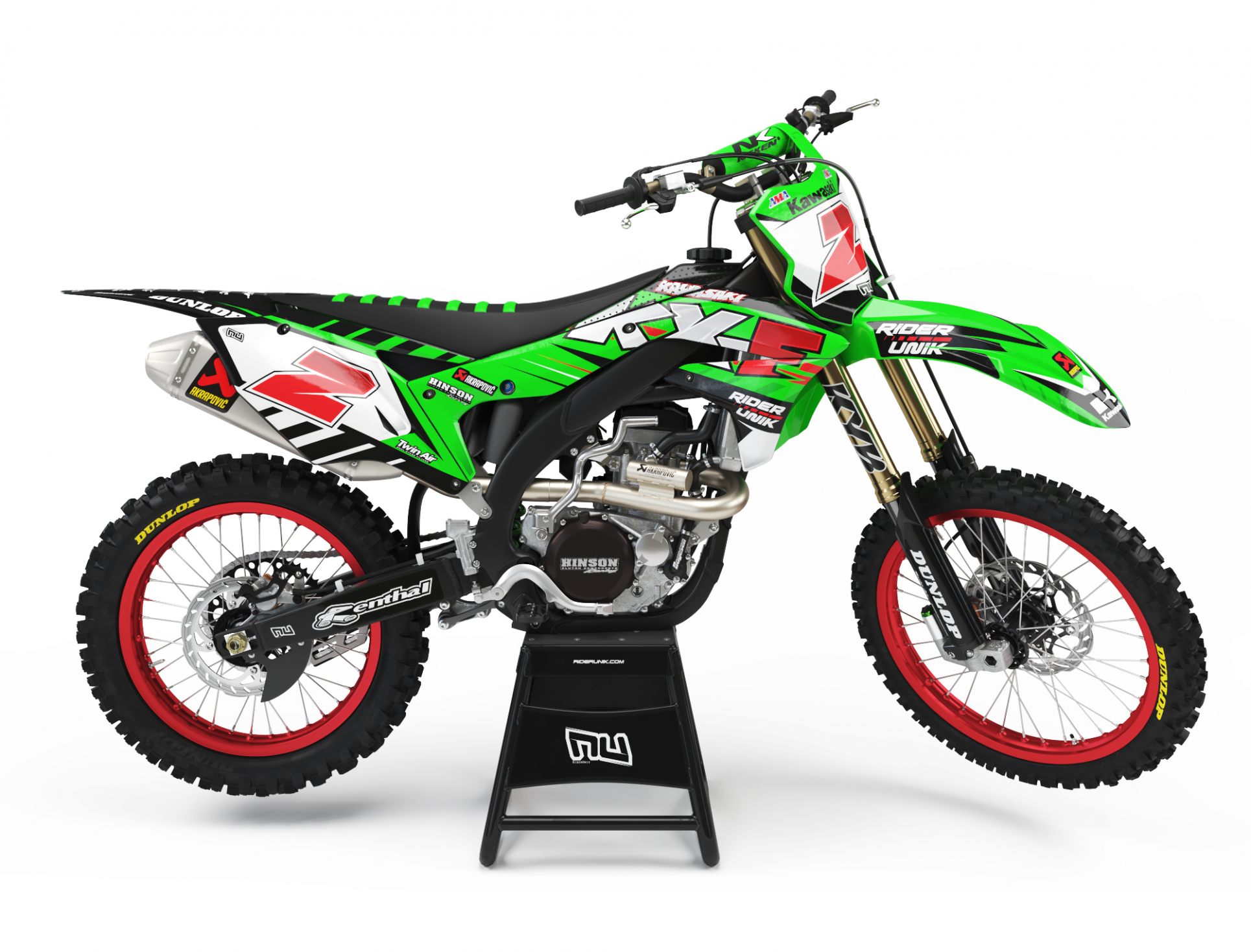 KIT DECO MOTOCROSS KAWASAKI GRAF