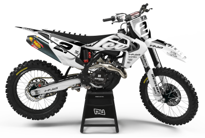 KIT DECO MOTOCROSS HUSQVARNA ICE BLACK