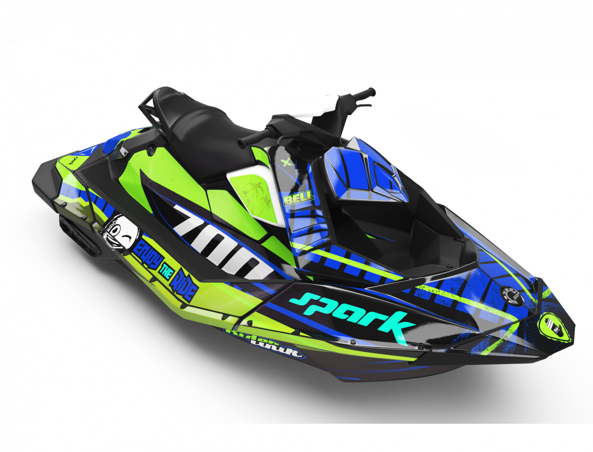 KIT DECO SEA-DOO SPARK ENJOY THE RIDE CUP VERT