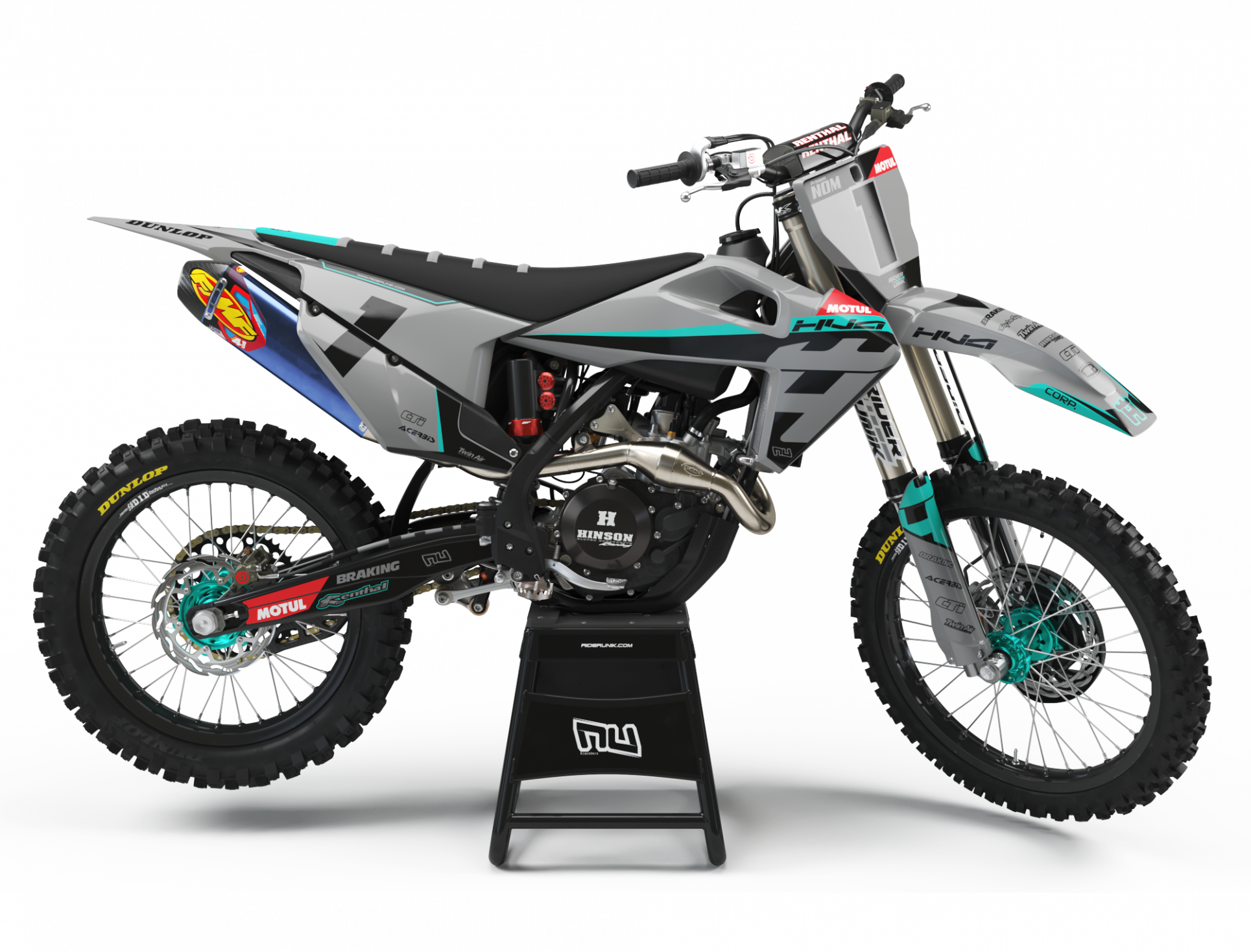 KIT DECO MOTOCROSS HUSQVARNA CORP GREY
