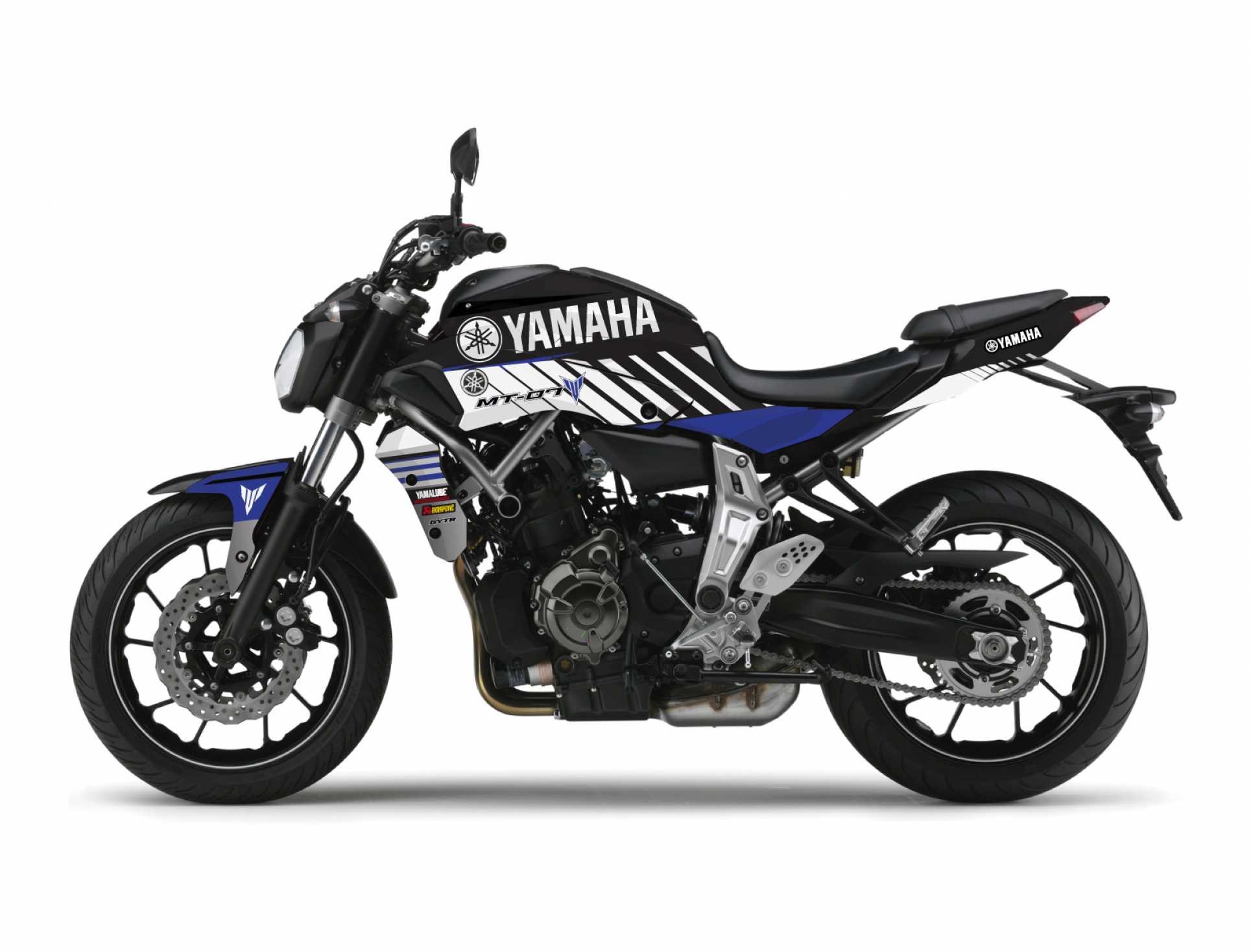 KIT DECO YAMAHA MT 07 RACE BLEU