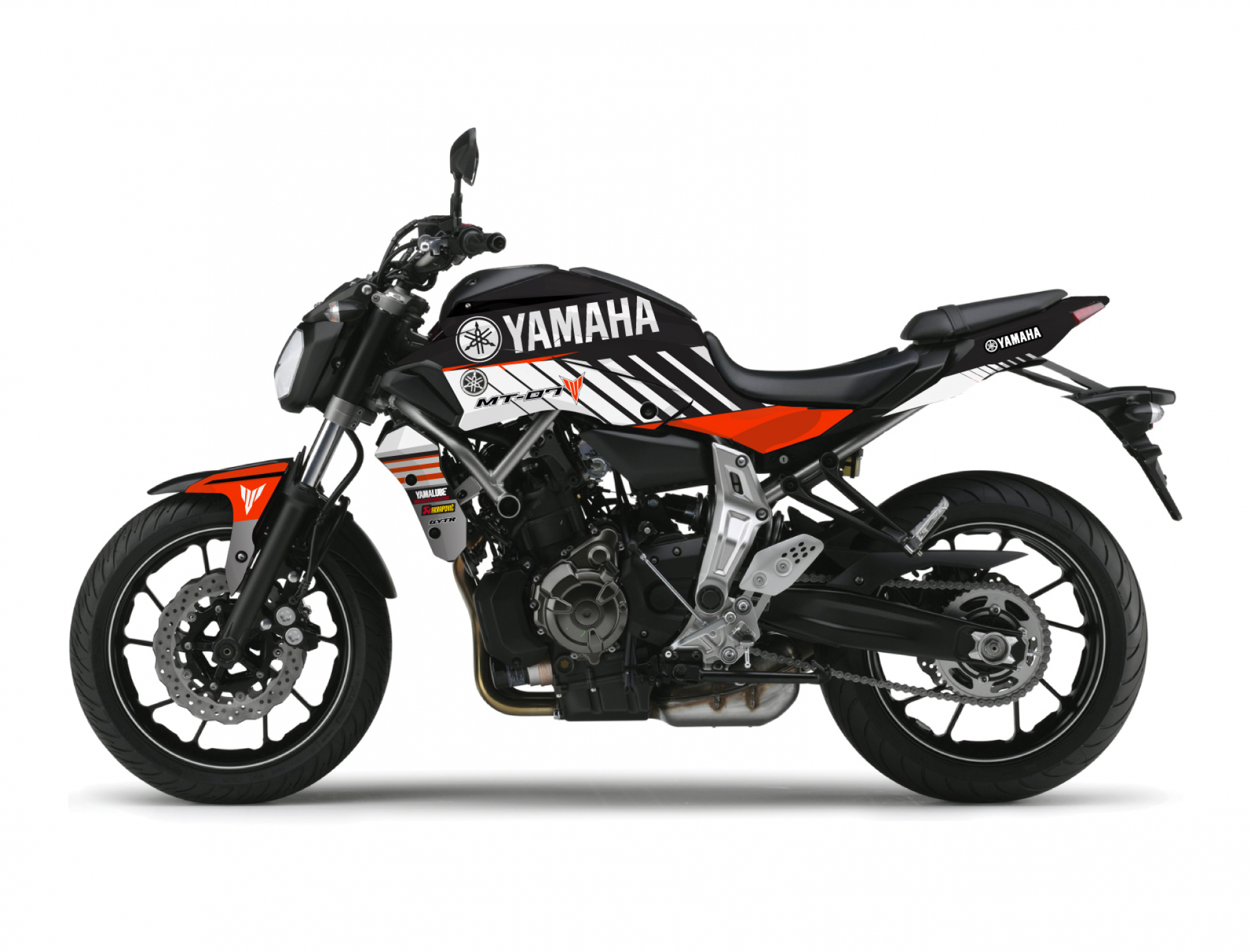 KIT DECO YAMAHA MT 07 RACE ORANGE