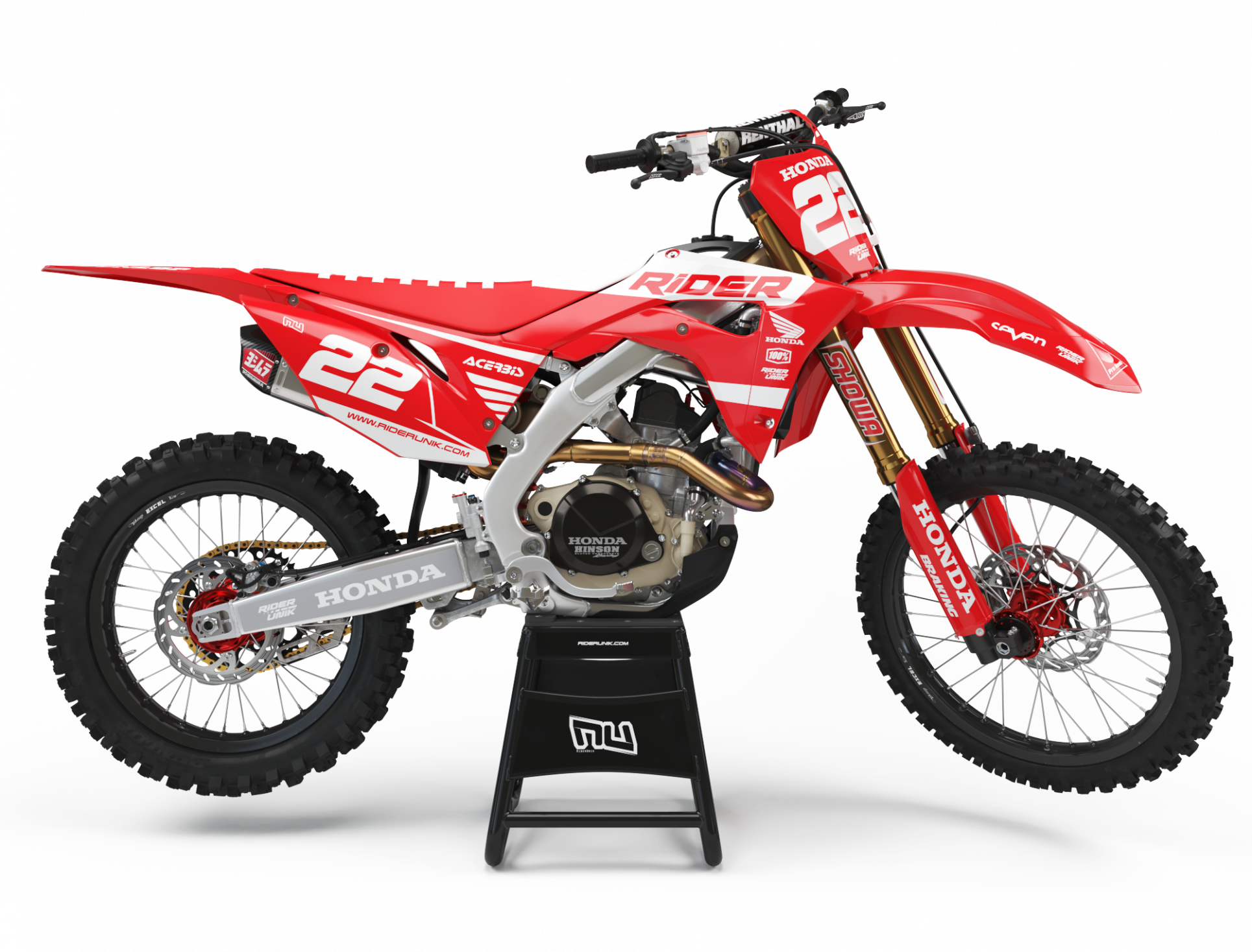 KIT DECO MOTOCROSS CR/CRF RIDE RED