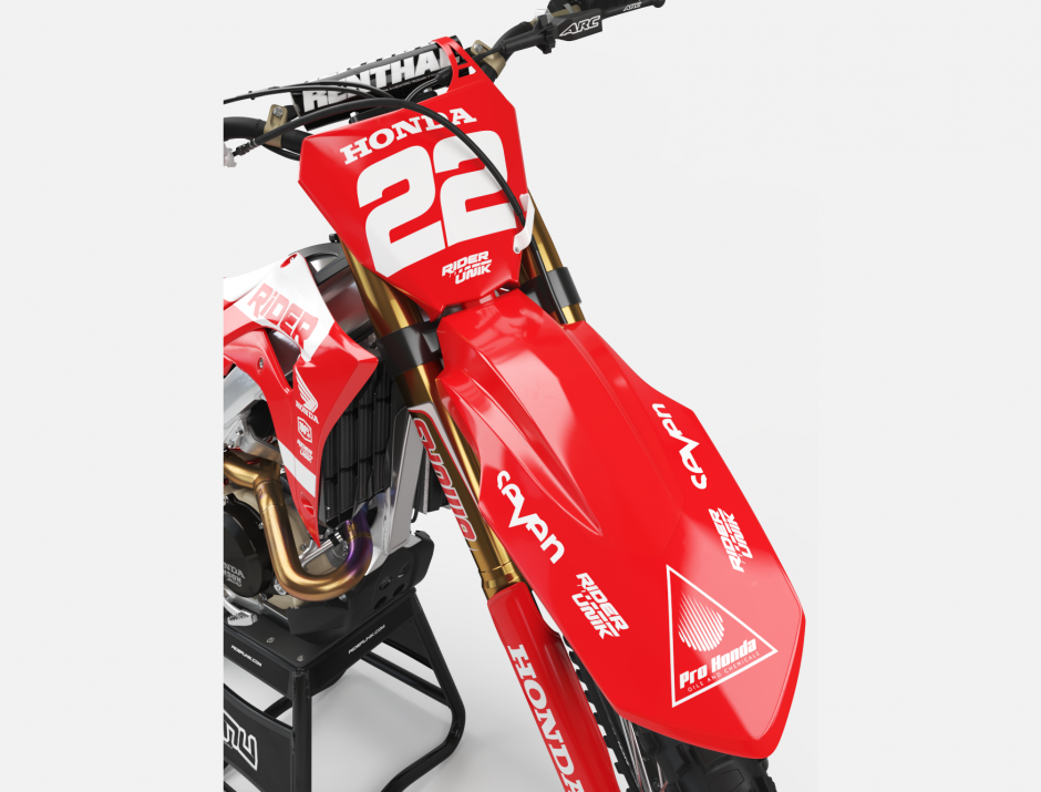 KIT DECO MOTOCROSS CR/CRF RIDE RED 3