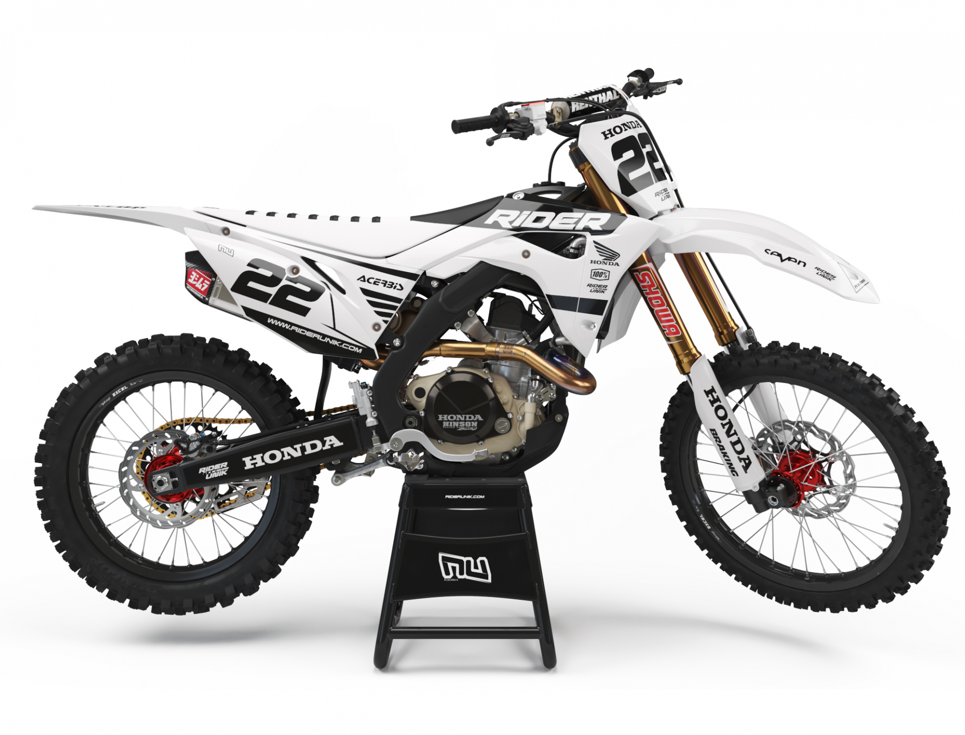 KIT DECO MOTOCROSS CR/CRF RIDE WHITE