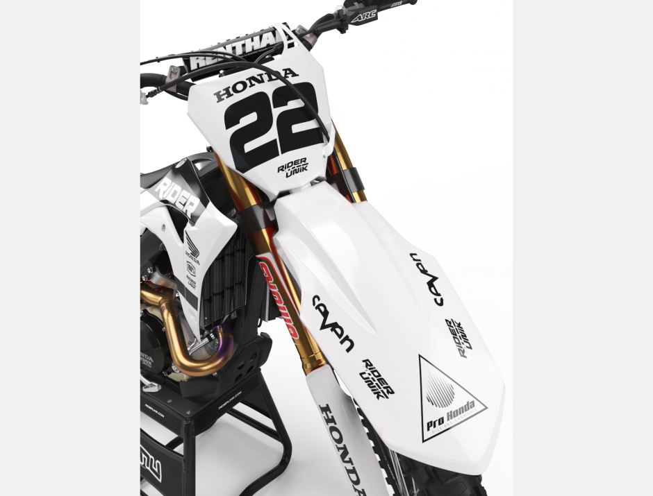 KIT DECO MOTOCROSS CR/CRF RIDE WHITE 3