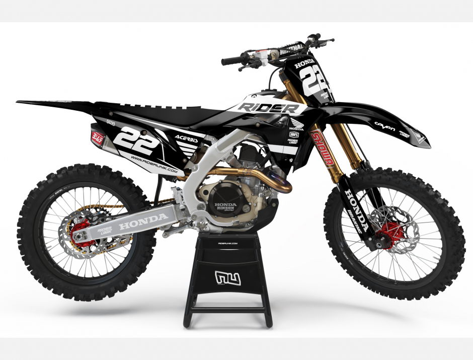 KIT DECO MOTOCROSS CR/CRF RIDE BLACK 1