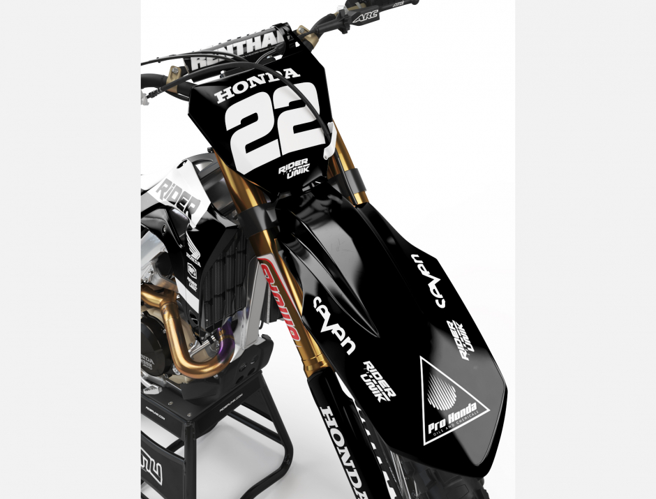 KIT DECO MOTOCROSS CR/CRF RIDE BLACK 3