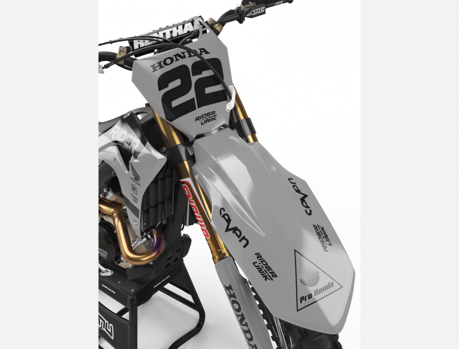 KIT DECO MOTOCROSS CR/CRF RIDE GREY 3