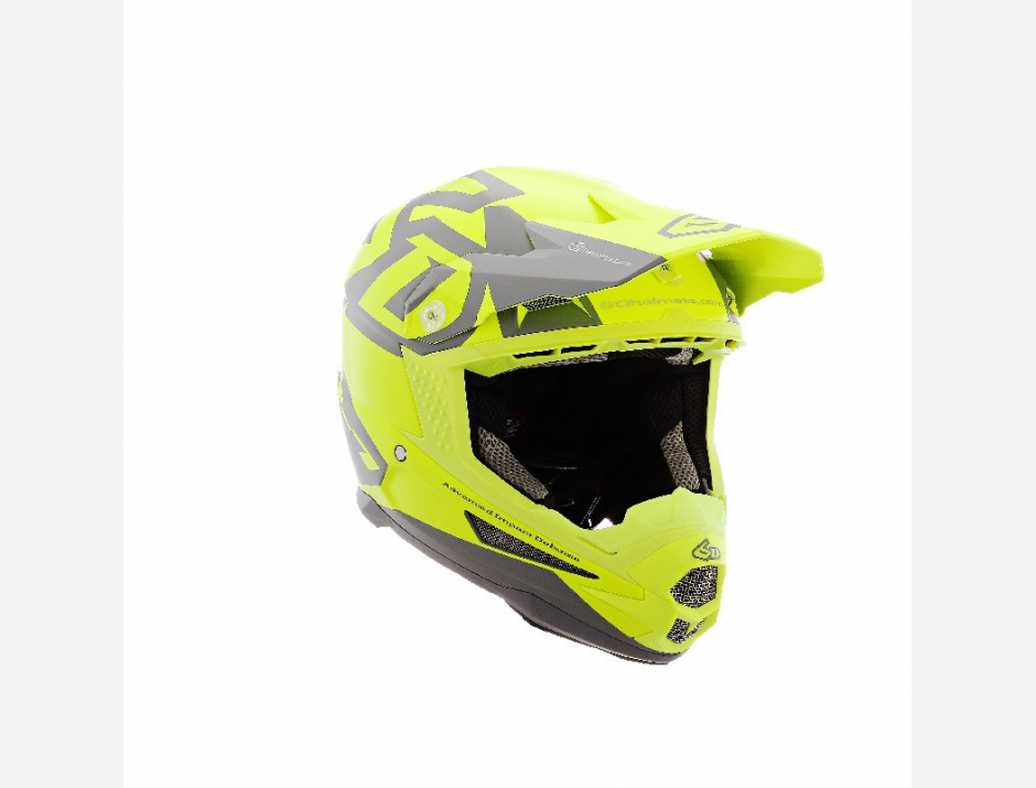 CASQUE 6D ATR1 SWITCH JAUNE + NOM OFFERT 1
