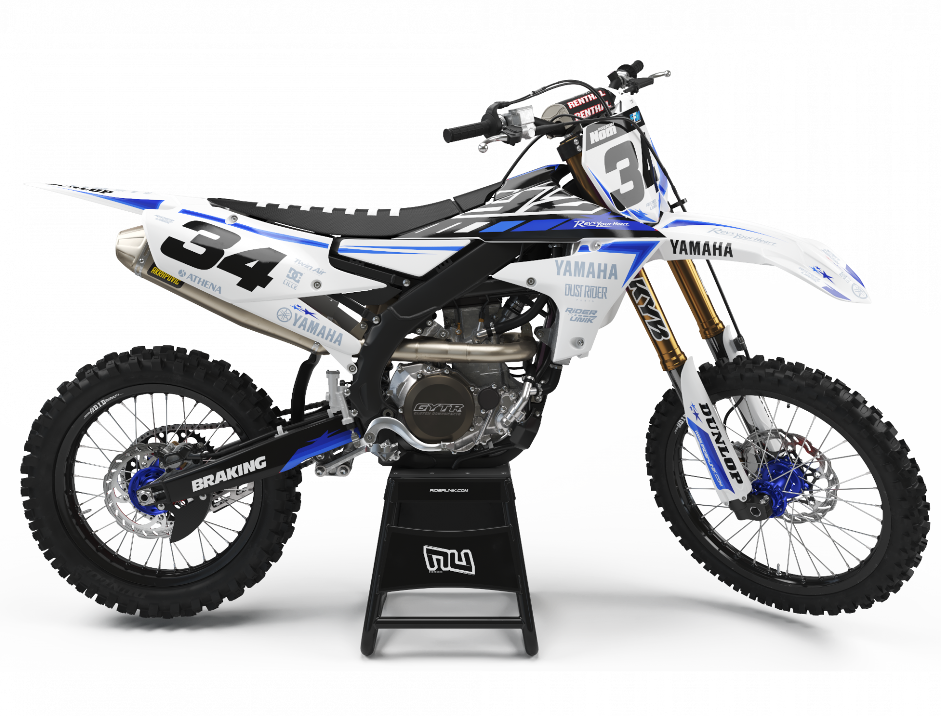 KIT DECO MOTOCROSS YZ/YZF STARS W BLUE