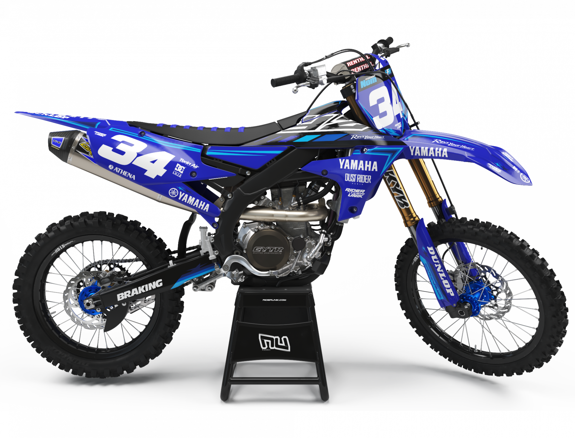 KIT DECO MOTOCROSS YZ/YZF STARS BLUE