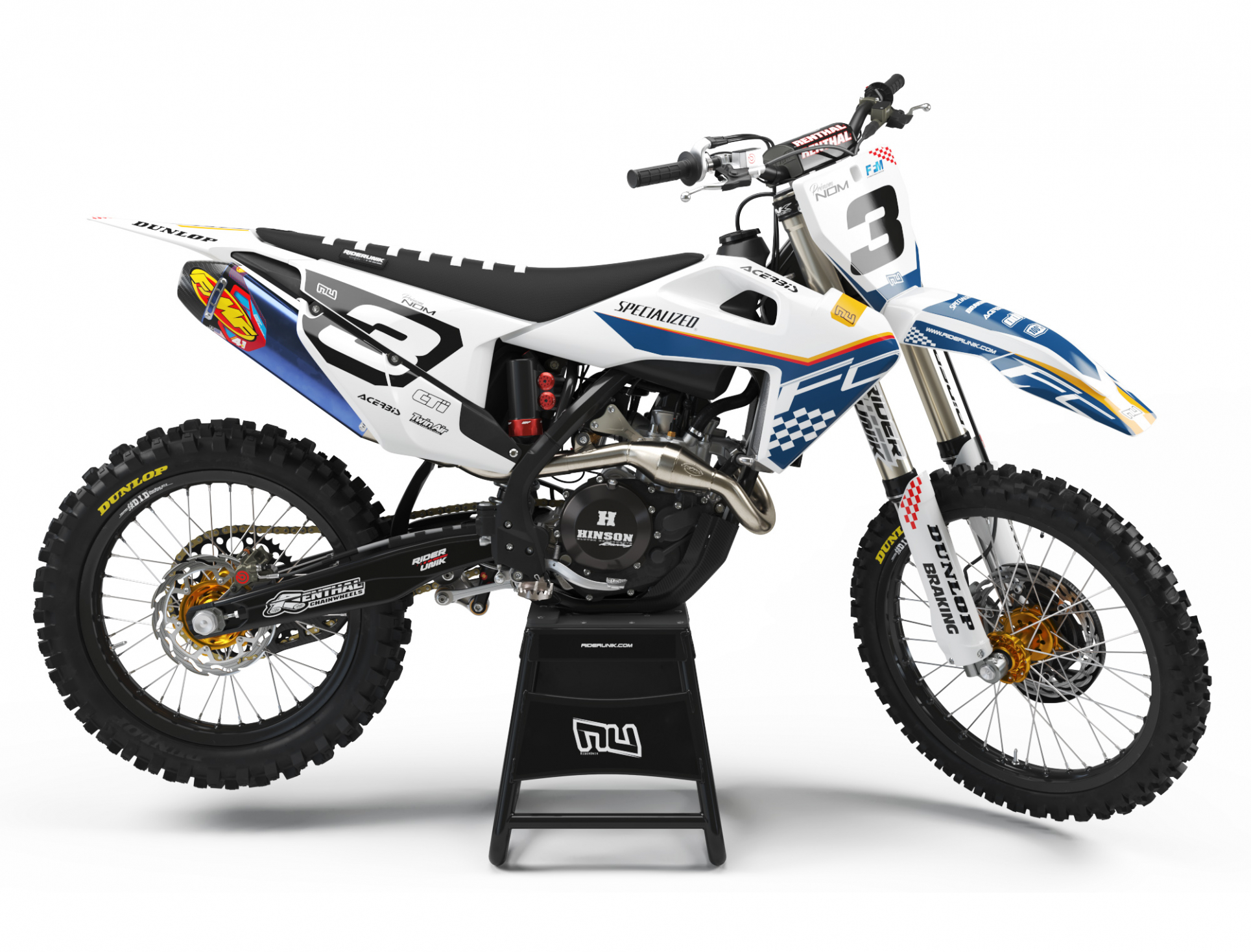 KIT DECO MOTOCROSS HUSQVARNA CHECK