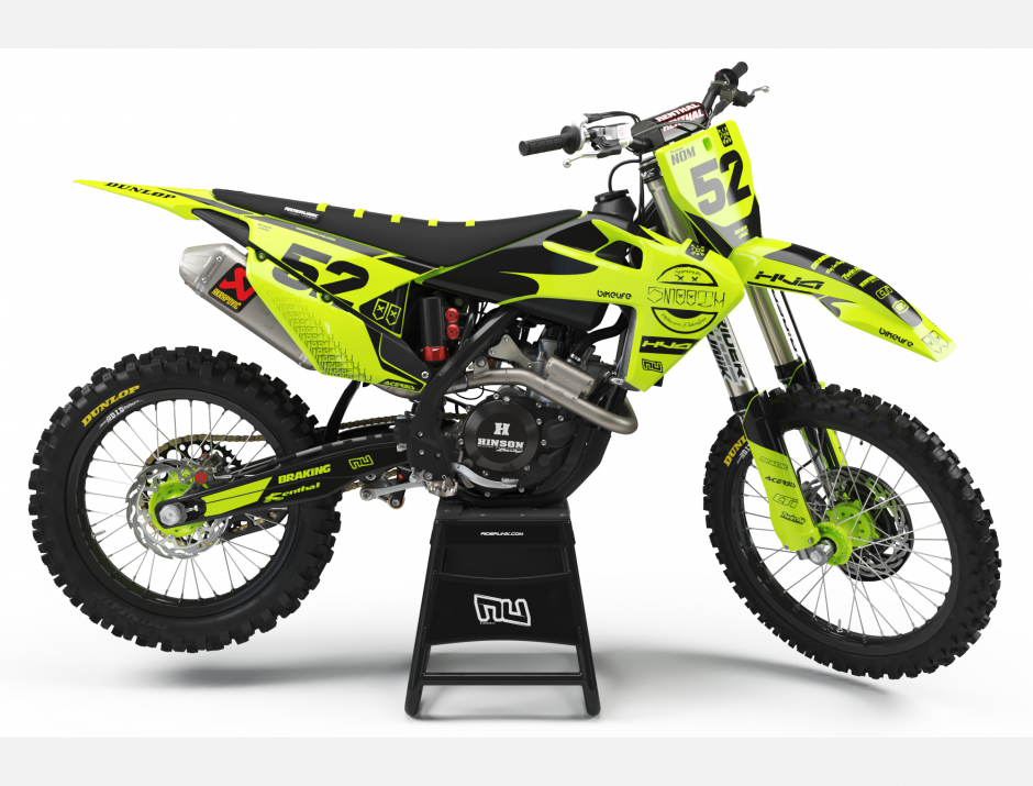 KIT DECO MOTOCROSS HUSQVARNA SMOOTH FLUO 1