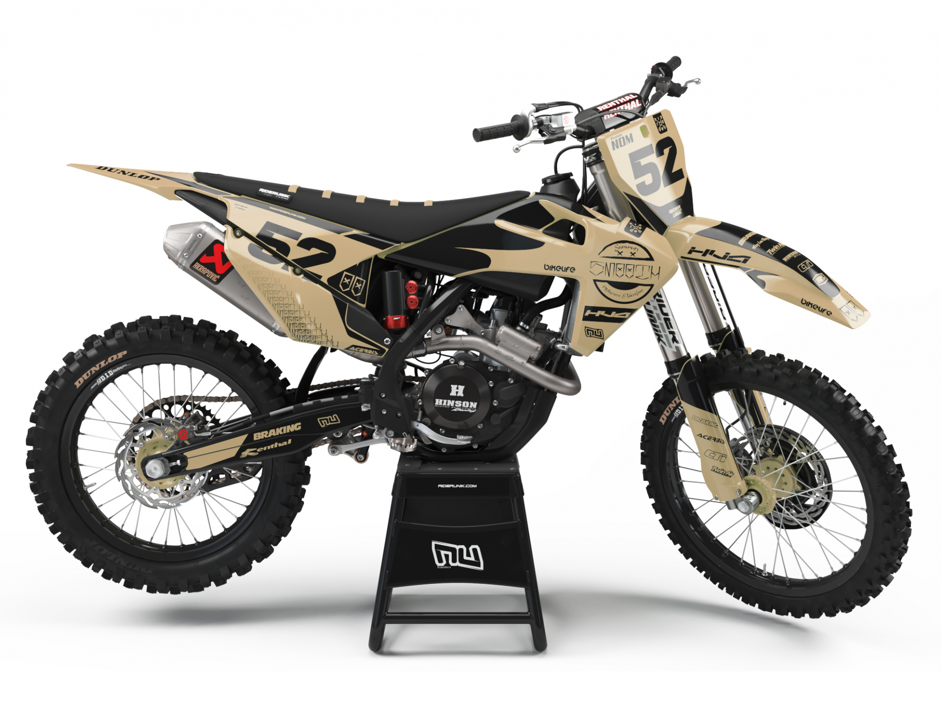 KIT DECO MOTOCROSS HUSQVARNA SMOOTH SAND