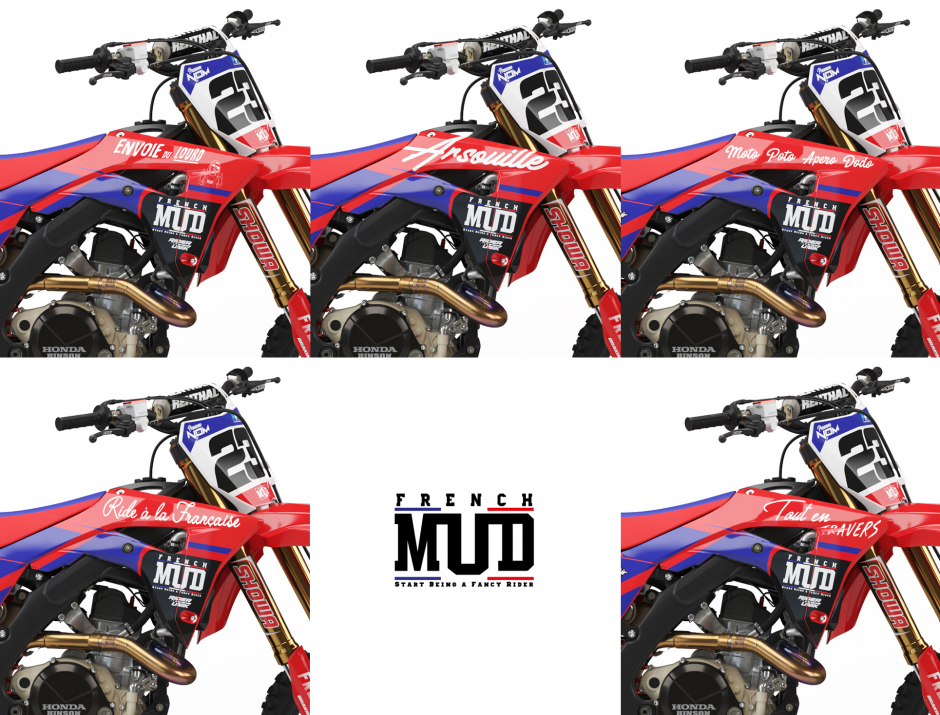 KIT DECO MOTOCROSS CR/CRF FRENCH MUD 4
